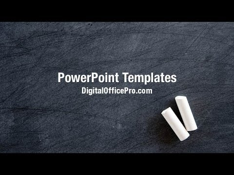 blackboard and chalk powerpoint template backgrounds digitalofficepro 00307w youtube. Black Bedroom Furniture Sets. Home Design Ideas
