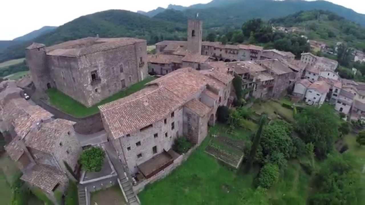 spain santa pau old fortress youtube
