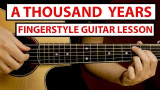 Christina Perri - A Thoขsand Years | Fingerstyle Guitar Lesson (Tutorial) How to Play Fingerstyle