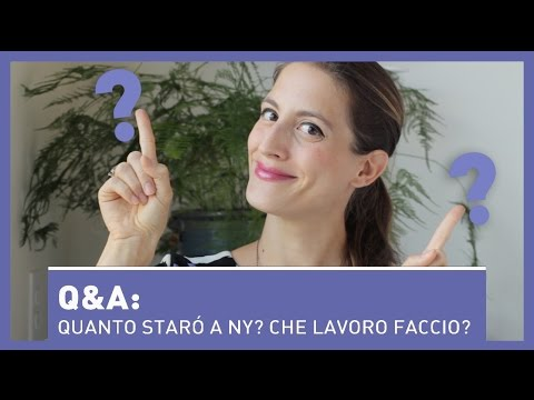 Q&A: Quanto starò a NY? Che lavoro faccio? Cosa mi manca di più dell'Italia?