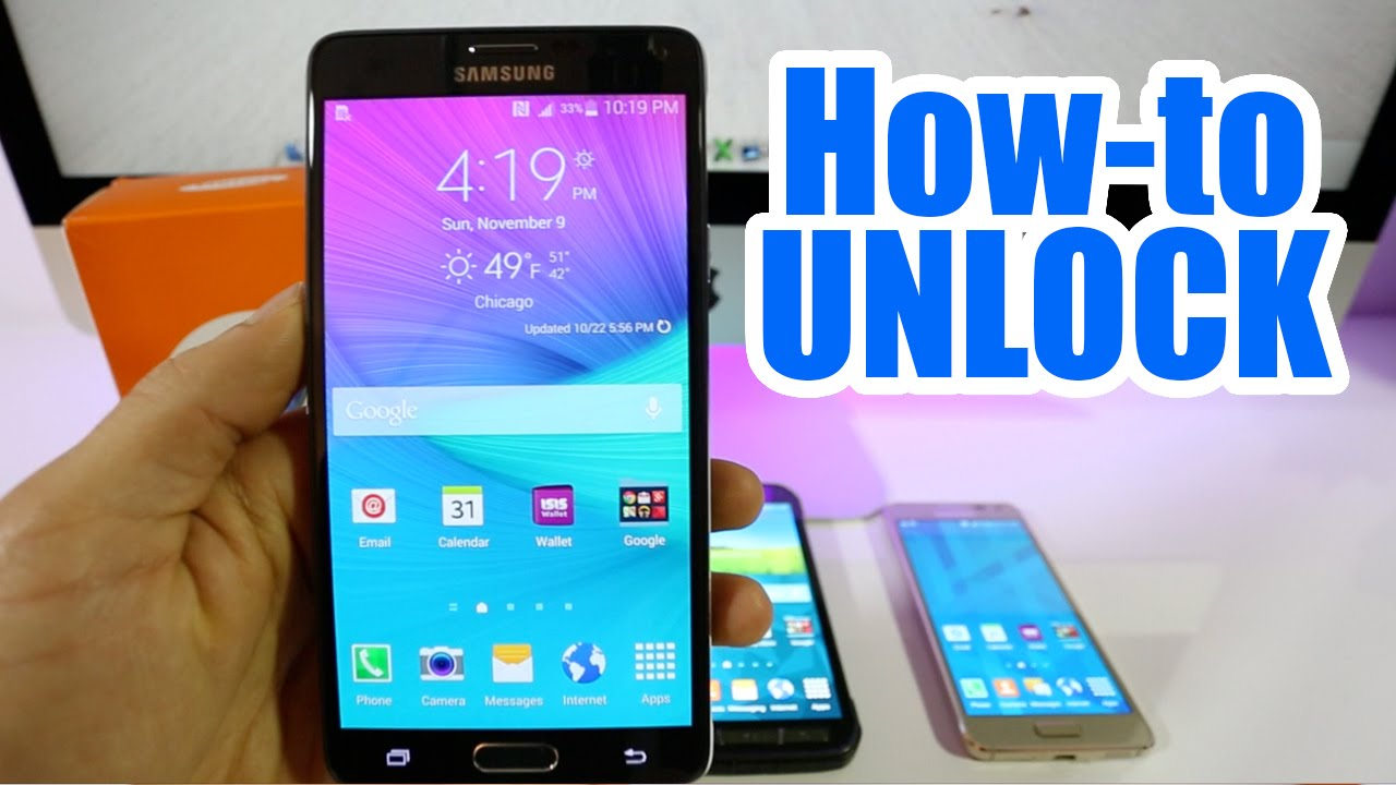how to unlock samsung galaxy note 4 at t rogers t mobile vodafone o2 orange etc youtube. Black Bedroom Furniture Sets. Home Design Ideas
