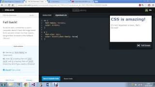 Codecademy: CSS: An overview. Part 2.
