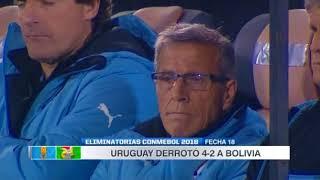 Uruguay vs Bolivia (4-2) Eliminatorias Sudamericanas Rusia 2018 Fecha 18