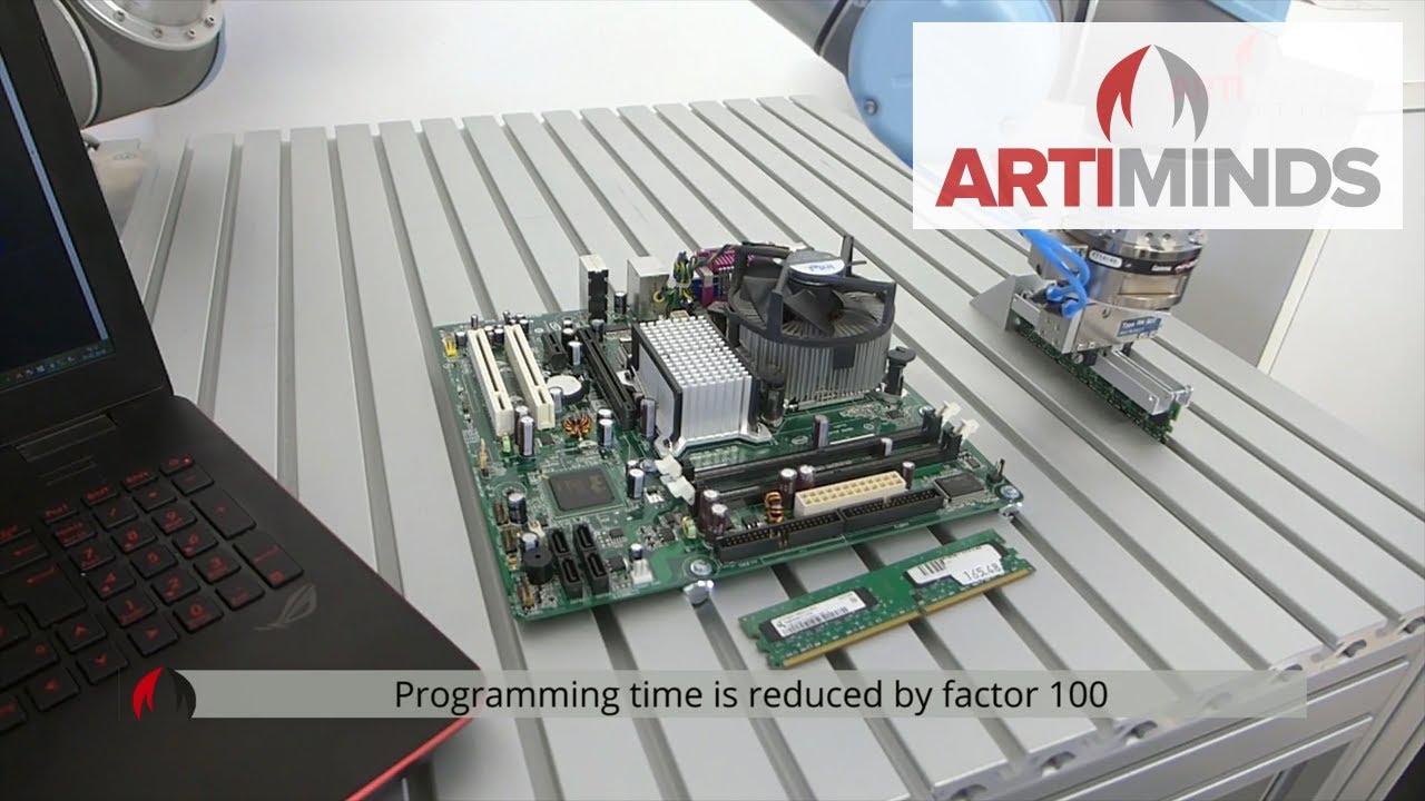 Artiminds Robotics Electronics Assembly Of Memory Modules Demo