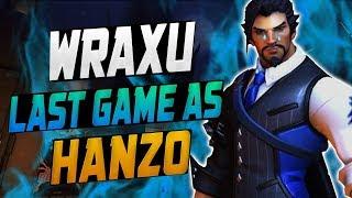 WRAXU - LAST GAME AS HANZO?! [ OVERWATCH SEASON 10 TOP 500 ]