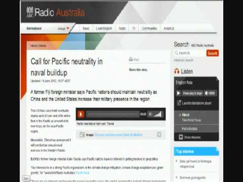 Radio Australia Interview Discussing Current Geopolitical Events in the Pacific.