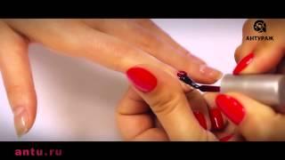 Уроки наращивания ногтей Покрытие  гель лаком