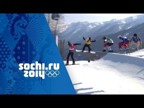 Download Eva Samkova Wins Gold In An Amazing Snowboard Cross Big Final | Sochi 2014 Winter Olympics
