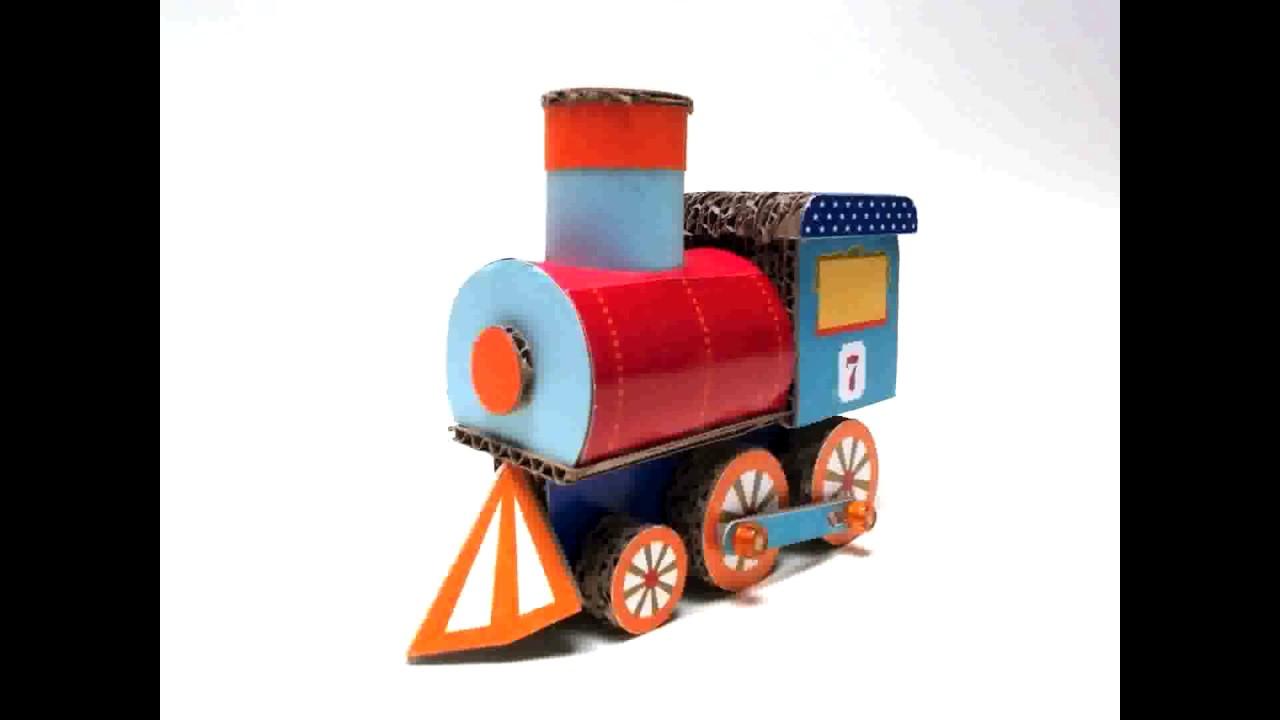 Bien connu AMAZING CARDBOARD TRAIN TOY by CARTON LLAMA - YouTube MQ35
