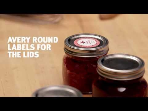 Create Custom Canning Labels with Avery®