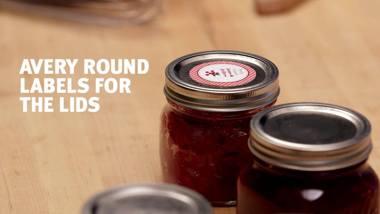 Create Custom Canning Labels With Avery Youtube