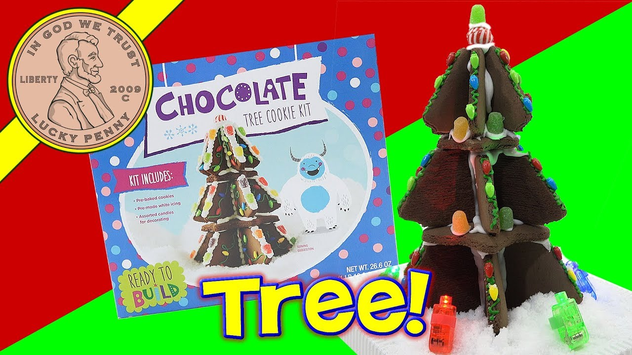 chocolate christmas tree cookie decorating kit merry christmas