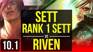 SETT vs RIVEN (TOP) | Rank 1 Sett, KDA 5/1/3 | BR Master | v10.1