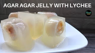 A very simple recipe to make Agar Agar Jelly with Lychee
