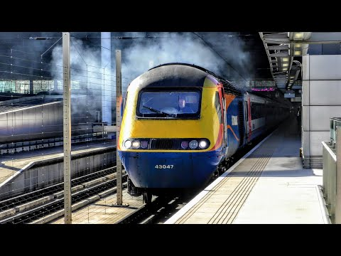 Trains at London St Pancras Int