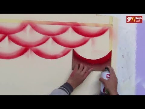 Create A 3D Fish Scales Design With Spray Paint.