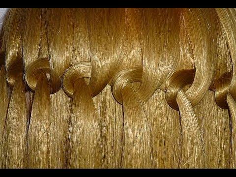 Коса Водопад. Причёска с узловым плетением для средних и длинных волос