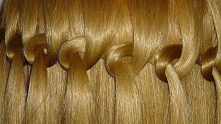 видео варианты плетения кос на средние волосы