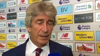 Manuel Pellegrini Post Match Interview Liverpool 4 West Ham 0