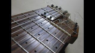 El diapasón de la guitarra
