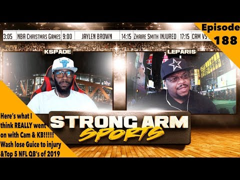 What Caused the Cam vs KB Beef?!   Strong Arm Sports Podcast Ep188   Top 5 NFL QB's