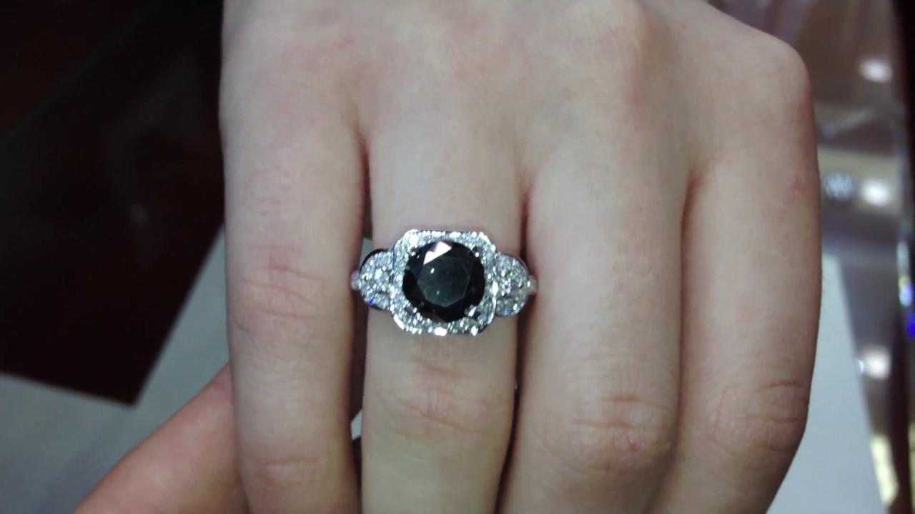 Black Diamond Engagement Rings Youtube