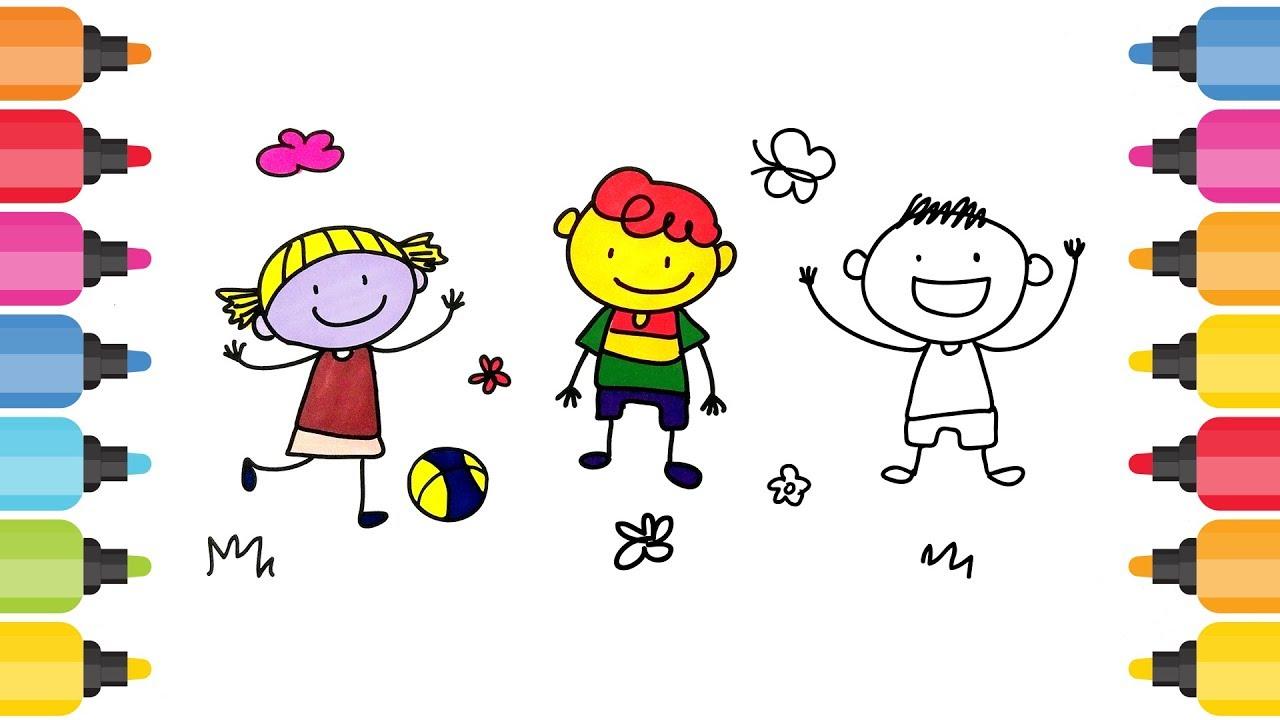 çocuk Figürleri Boyama Oyunu Resim Boyama Oyunları Youtube