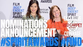 34th Film Independent #SpiritAwards Nominations announced by Gemma Chan and Molly Shannon
