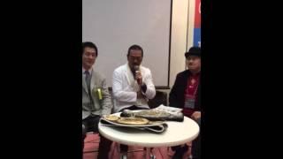 日本の健康大使 千葉真一先生が、水素について熱く語ってくださいました。