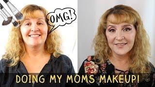 I DO MY MOMS MAKEUP FULL GLAM! l Glamorous Massacre