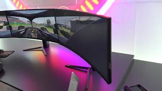 Abt electronics checks out the 38gn950 4k gaming monitor at lg booth.