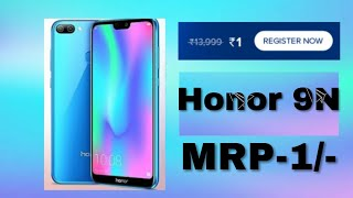 Honor RS.1 Flash sale || Buy Honor 9N in just Rs-1 ( Register Now )