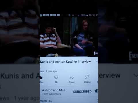 Ashton Kutcher and Mila Kunis Interview 1998!