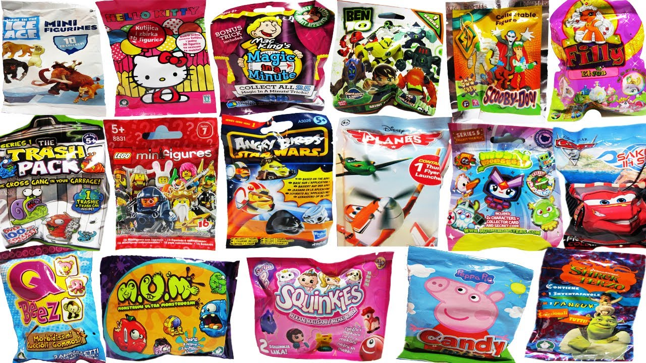18 Surprise Blind Bags Lego Angry Birds Star Wars Moshi