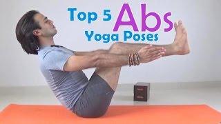 Top 5 Abs Yoga Poses | Beginner's Yoga Core Strength  | Vashistha Yoga