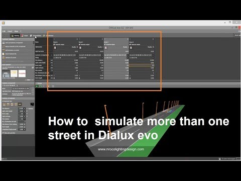 How To  Simulate More Than One Street In Dialux Evo