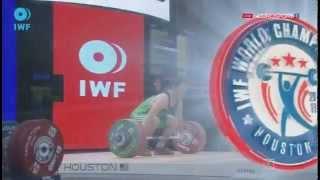 Тяжелая атлетика. Чемпионат Мира 2015 г. Мужчины до 77 кг.