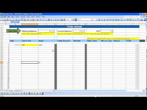 Binary option excel