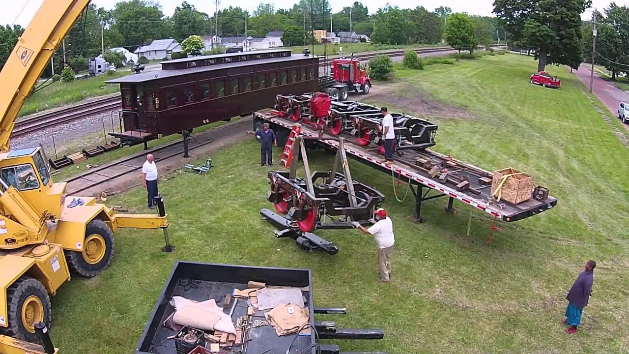 2015 Lincoln Funeral Train Painesville Railroad Museum Drone