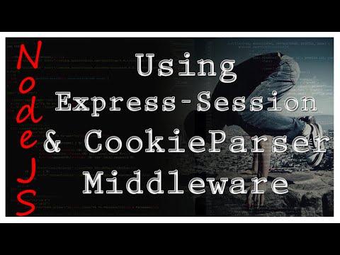 NodeJS - Cookie-Parser & Express-session - Tutorial 4