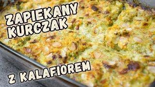 ZAPIEKANKA z kalafiorem i kurczakiem w sosie beszamelowo brokułowym