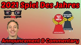 2021 Game of tнe Year (Spiel Des Jahres & Kennerspiel) Announcement & Commentary