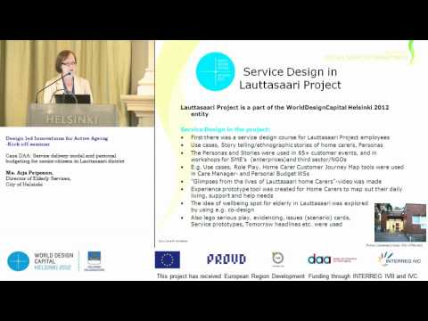Case: Service delivery model and personal budgeting for senior citizens, Helsinki 22.5.2012