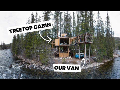 AMAZING off grid tree top cabin - VW T3 (Vanagon) Norway road trip!