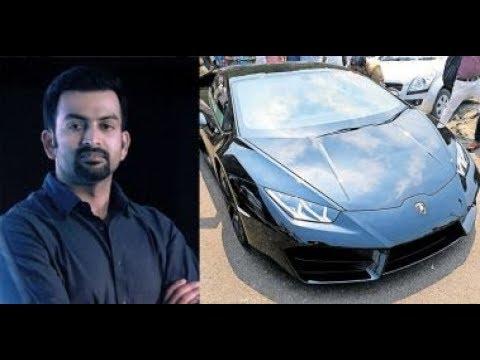 Prithviraj's New Lamborghini huracan Spotted in Ernakulam for registration
