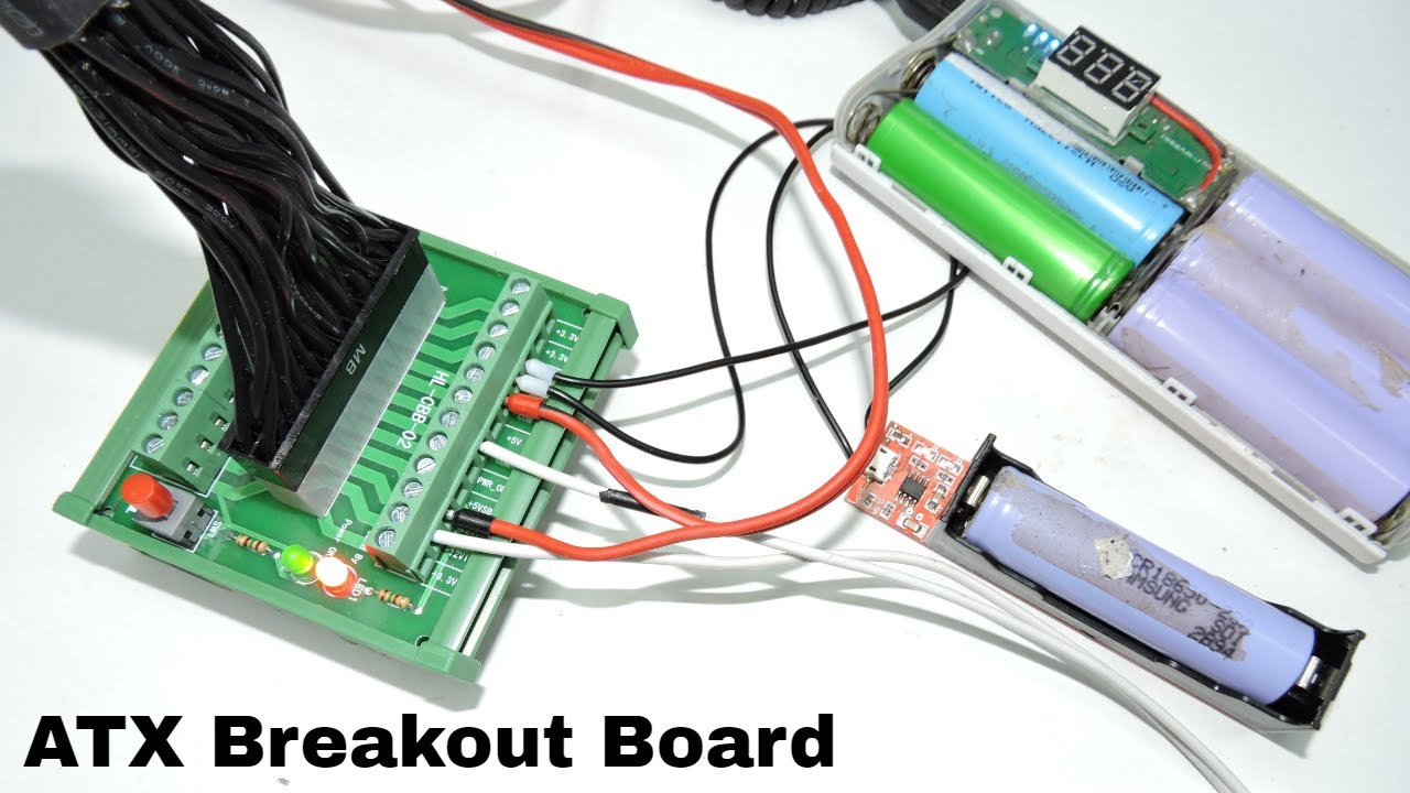 24pin Atx Dc Power Supply Breakout Board