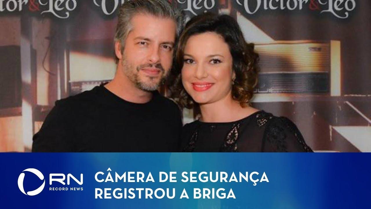 Imagens exclusivas mostram briga de sertanejo Victor e ex-esposa 3 anos atrás