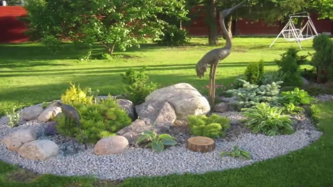 Como Decorar Tu Jardín Con Piedras , Buenas Ideas!!! Youtube