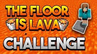 THE FLOOR IS LAVA CHALLENGE EN MINECRAFT! | MINECRAFT MAP