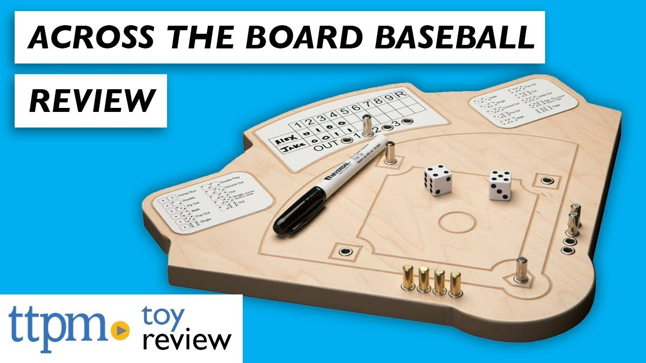 Baseball Game Wooden Board Game Review from Across the Board Game